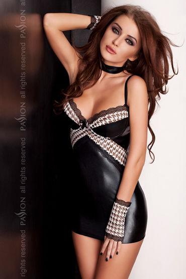 Passion Virgin, Комбинация, стринги, митенки и украшение на шею - Размер L-XL