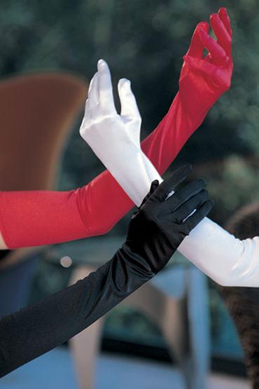 Shirley перчатки, белые Атласные