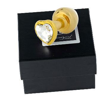 Diogol Anni Heart T3, золото Анальная пробка с кристаллом Swarovski