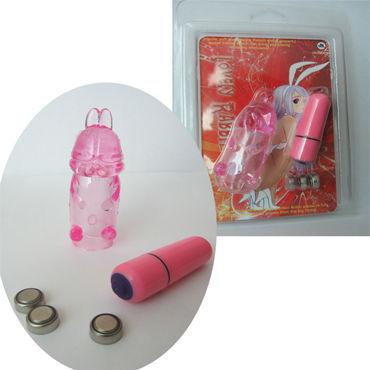 Sextoy Bullet, розовое Вибропуля с насадкой в форме зайца