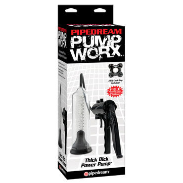 Pipedream Pump Worx Thick Dick, Мужская помпа
