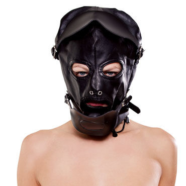 Pipedream Black Baron Hood Шлем с открывающимися шорами