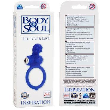 California Exotic Body & Soul Inspiration, синее Эрекционное кольцо с виброэлементом