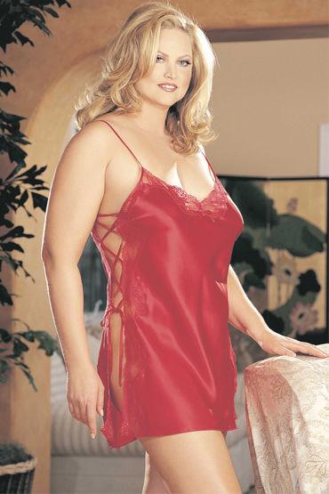 Shirley комбинация, красная С красивой шнуровкой по бокам