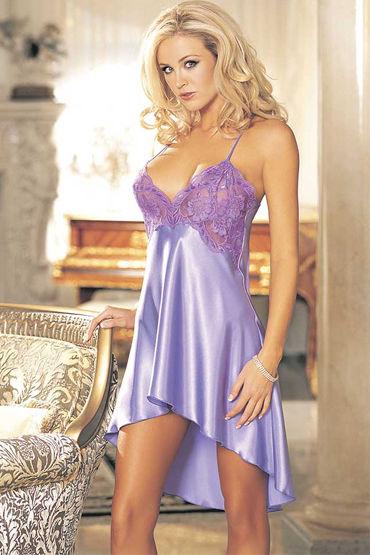 Shirley комбинация, фиолетовая, С вышивкой на лифе - Размер M