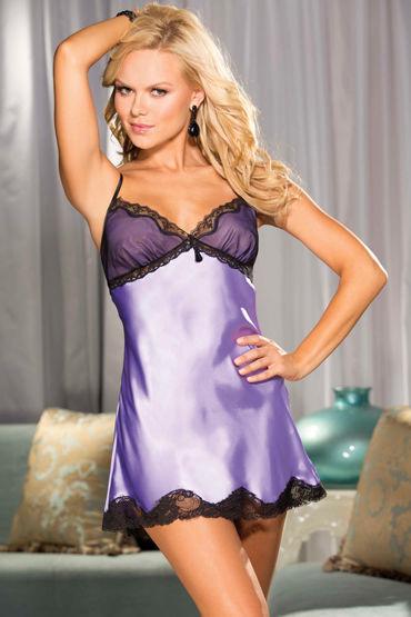 Shirley комплект, фиолетовый Комбинация с кружевом и стринги