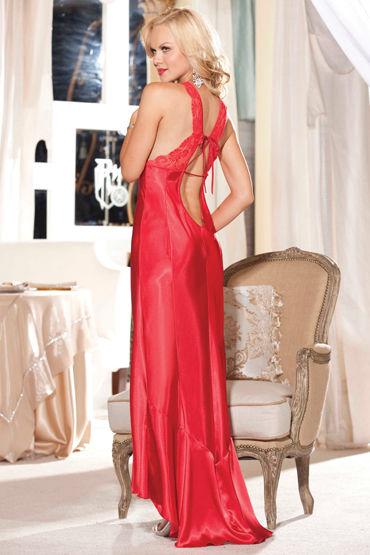 Shirley комплект, красный Роскошная длинная сорочка