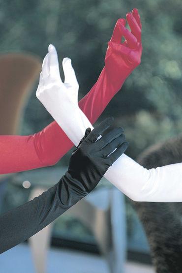 Shirley перчатки, черные Длиной выше локтя