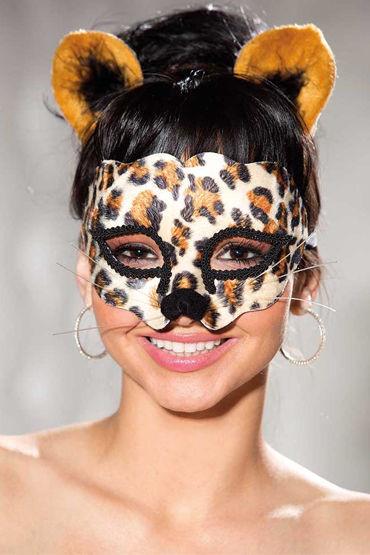 Shirley комплект Леопардовая маска и ушки на ободке