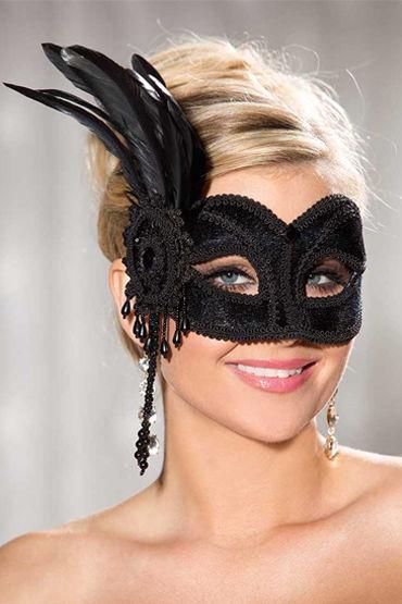Shirley маска С красивыми перьями