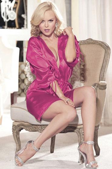 Shirley пеньюар, розовый Атласный, с поясом