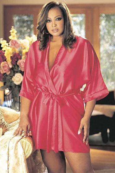 Shirley халат, красный Классического дизайна