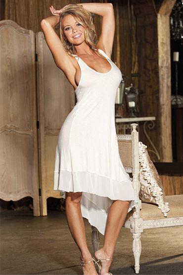 Shirley платье, белое С ассиметричным подолом