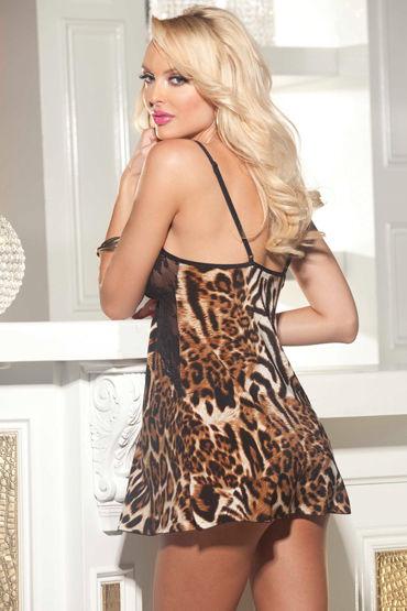 Shirley комплект Леопардовая сорочка и стринги
