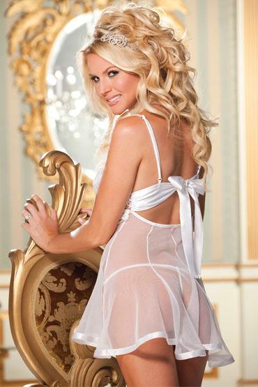 Shirley комплект, белый Сорочка с кружевным лифом и трусики