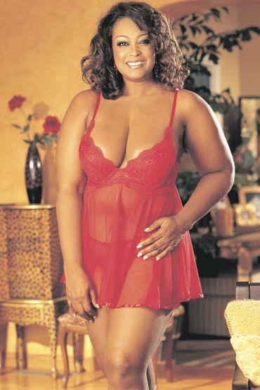 Shirley комплект, красный Коротенькая комбинация и стринги