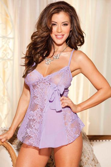 Shirley комплект, фиолетовый Кружевная комбинация и стринги