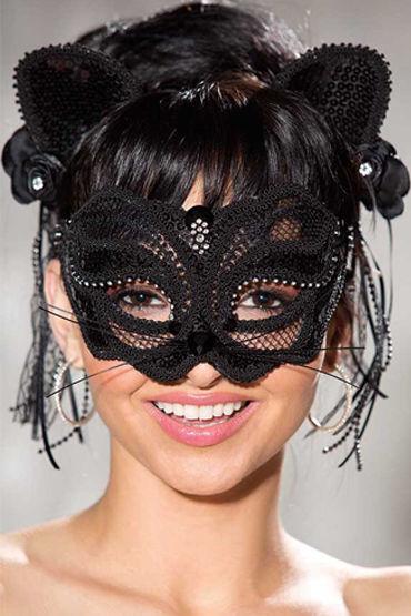 Shirley Кошечка Карнавальная маска и ушки на ободке