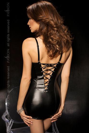 Passion Kimbra, черный Комбинация со шнуровкой на спине и стринги