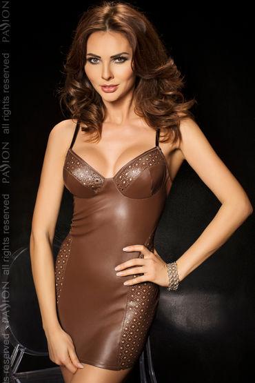 Passion Kimbra, коричневый Комбинация со шнуровкой на спине и стринги