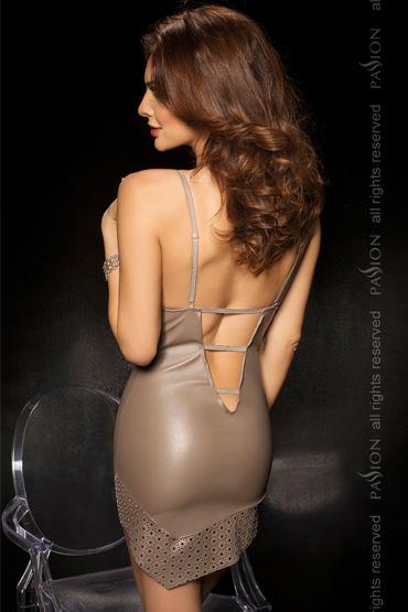 Passion Roca, серый Ассиметричная комбинация и стринги
