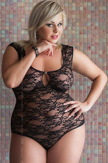 Soft Line Anna, черный, С глубоким вырезом на спинке - Размер XL