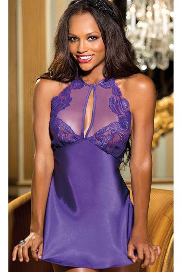 Shirley комплект, фиолетовый Комбинация с красивой спинкой и стринги
