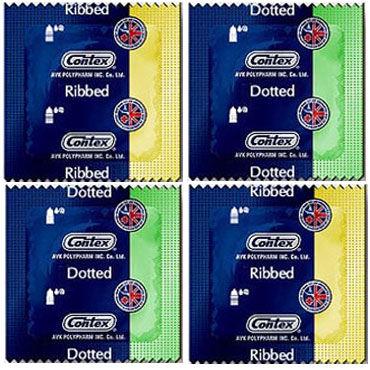 Contex Relief, Презервативы c кольцами и пупырышками - Упаковка по 12 шт.