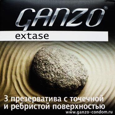 Ganzo Extase, Презервативы c кольцами и пупырышками - Упаковка по 3 шт.