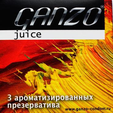 Ganzo Juice, Презервативы ароматизированные - Упаковка по 3 шт.