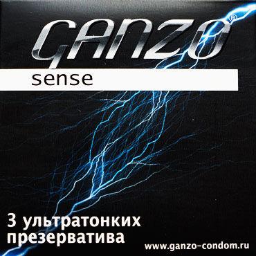 Ganzo Sence, Презервативы ультратонкие - Упаковка по 3 шт.