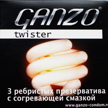 Ganzo Ribs, Презервативы с ребрышками - Упаковка по 3 шт.