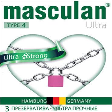 Masculan Ultra Strong, Презервативы особо прочные - Упаковка по 3 шт.