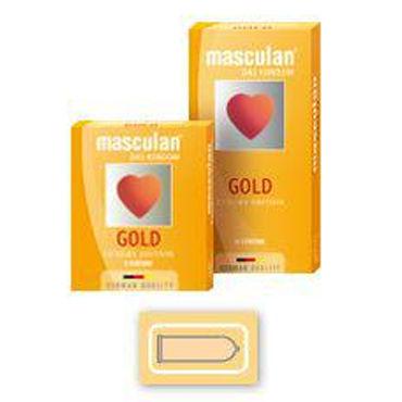 Masculan Gold Luxury Edition Презервативы с золотистым напылением
