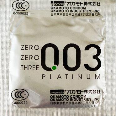 Okamoto Platinum, Презервативы самые тонкие латексные - Упаковка по 3 шт.