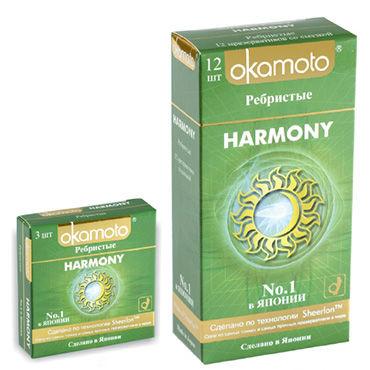 Okamoto Harmony Презервативы анатомической формы с кольцами