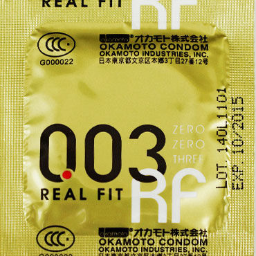 Okamoto Real Fit, Презервативы самые тонкие латексные, анатомической формы - Упаковка по 3 шт.