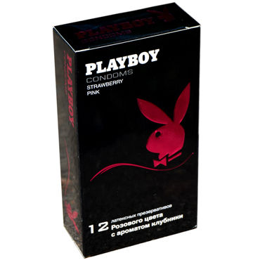 Playboy Strawberry Pink Презервативы с ароматом клубники
