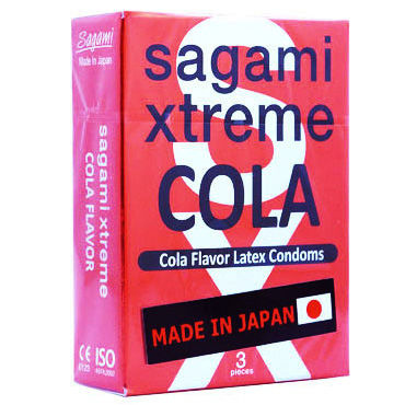Sagami Xtreme Сola Презервативы ультратонкие со вкусом колы