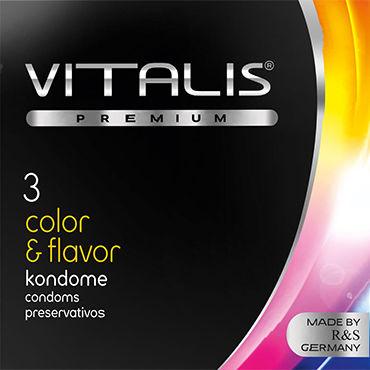 Vitalis Color  Flavor, Презервативы цветные ароматизированные - Упаковка по 3 шт.
