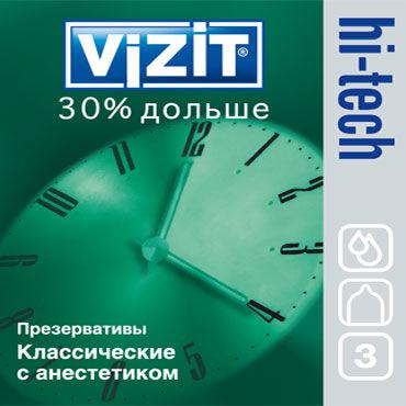 Vizit Hi-Tech 30% дольше с кольцами, Презервативы продлевающие с кольцами - Упаковка по 3 шт.