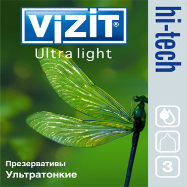 Vizit Hi-Tech Ultra Light, Презервативы ультратонкие - Упаковка по 3 шт.