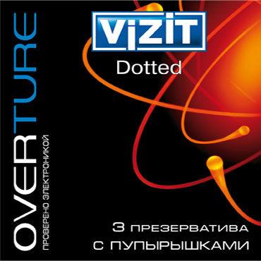 Vizit Overture Dotted, Презервативы с пупырышками - Упаковка по 3 шт.