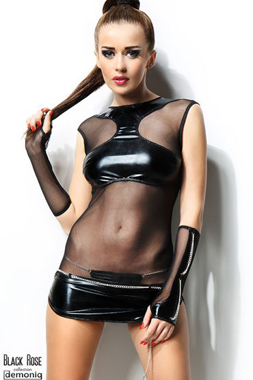 Demoniq Anette Мини-платье, перчатки и трусики