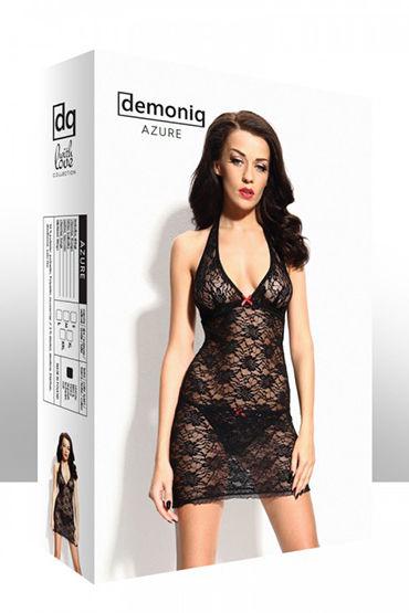 Demoniq Azure black Мини-платье с вырезом на спине