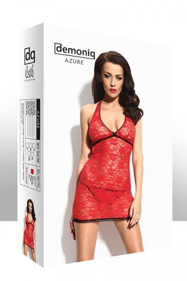 Demoniq Azure red Мини-платье с вырезом на спине