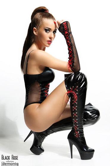 Demoniq Evelyne Боди в комплекте с перчатками