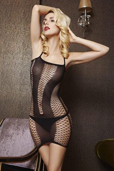 Le Frivole Платье на тонких бретелях В крупную сетку