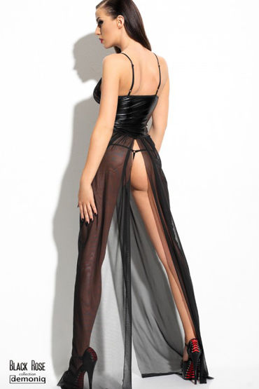 Demoniq Black Rose Anastasia Длинное платье и трусики