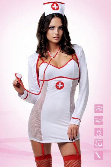 Le Frivole Заботливый доктор, белый Костюм для ролевых игр